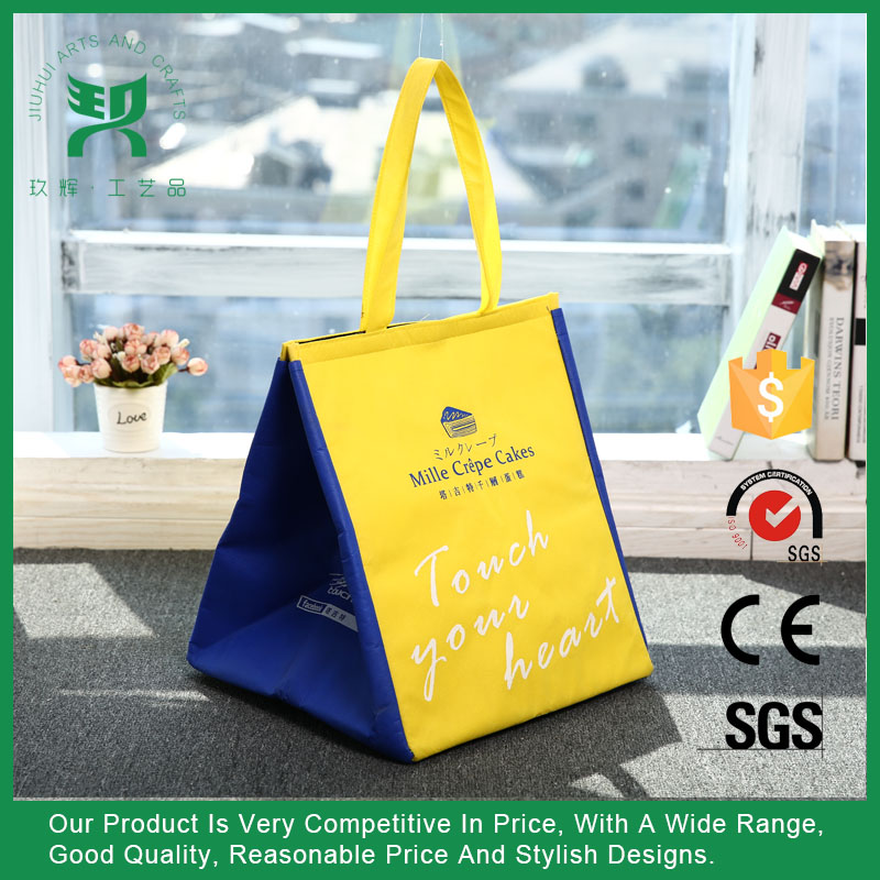 Promotional non woven aluminium foil insulated food cooler bag