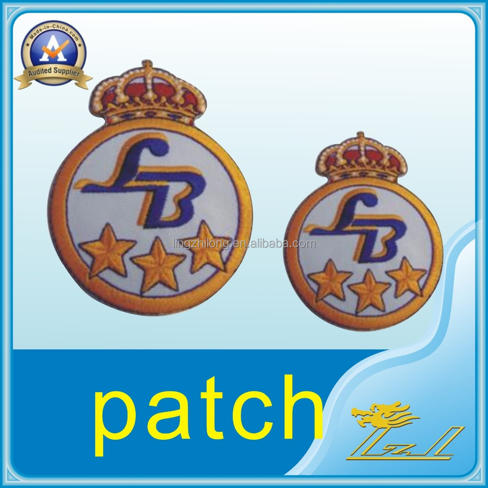 Cheapest Wholesale Crown Patch Embroidery Customized <strong>Iron</strong> On Patch
