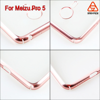 For Meizu Pro 5 electroplate back case customized design gold color mobile phone back cover mobile accessories