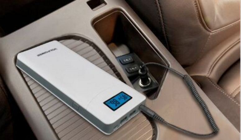 portable car battery charger P65,charge the 12V over-discharged car battery from cigarette lighting port directly