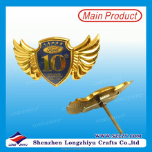 2016 Metal Shield and Gold wings Car Emblem,Badge,Logo For Ford