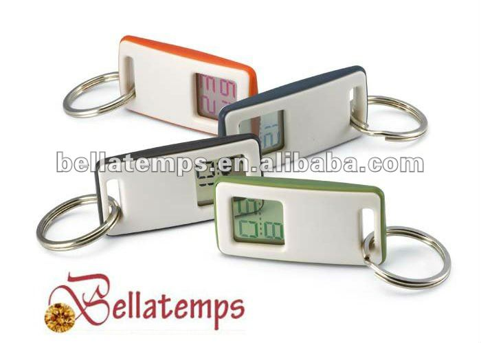 Digital clock keychain