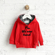 Kids clothing with button hood winter unisex children coats for babies