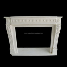 Marble hand carving electric fireplace no heat