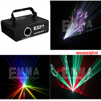 1W sound active rgb 3d sd card animations laser projector with free ishow software