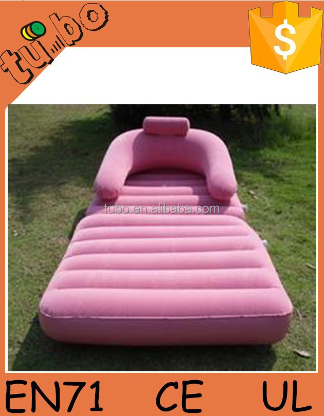 best selling flocking inflatable sofa bed/inflatable air cushion sofa