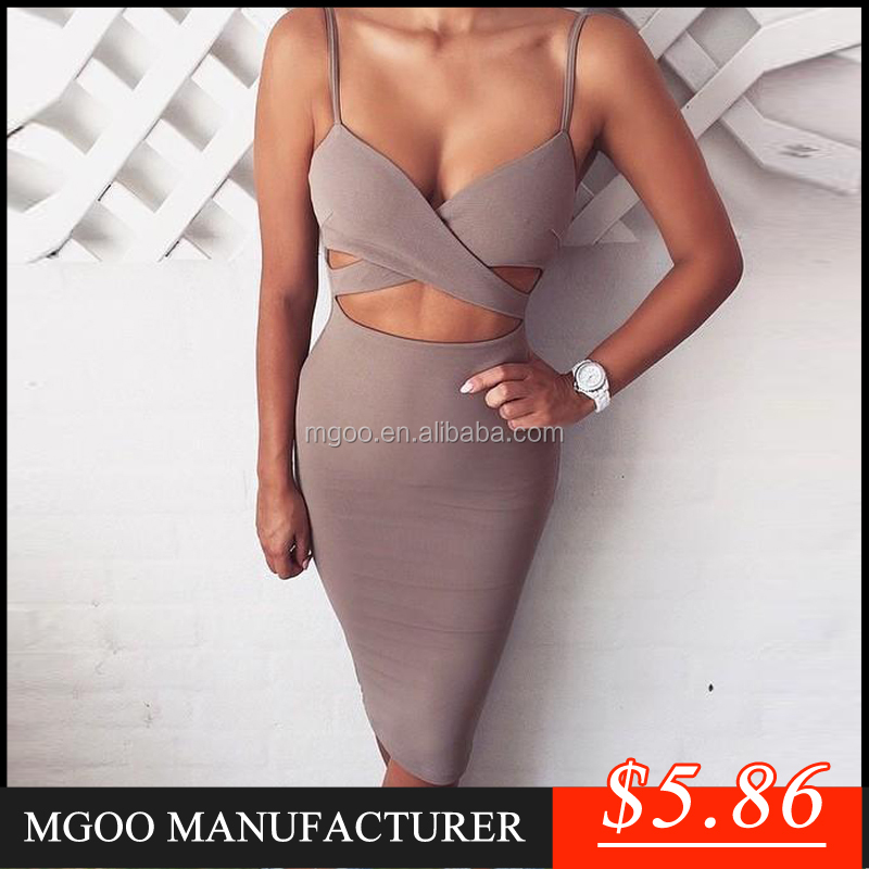 MGOO New Custom Made Low Price Sexy Ladies Club Bodycon Dress Hollow Out Bandage Dress High Night Prom Dress Z643
