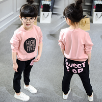 korean kids fashion 2016 fall boutique girl clothing casual sport 2 pcs sets kids clothes