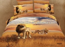 100% Cotton 3D Animal Prints Bed Sheet Set