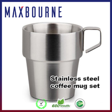 hotselling double wall 18/10 stainless steel travel coffee mug with handle