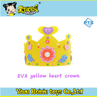 DIY educational toys / EVA happy birthday Crown cap/hat/ foam toys