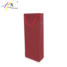 Wholesale Paper Packaging Bag Red Wine Bottle Paper Gfit Bag with Handle