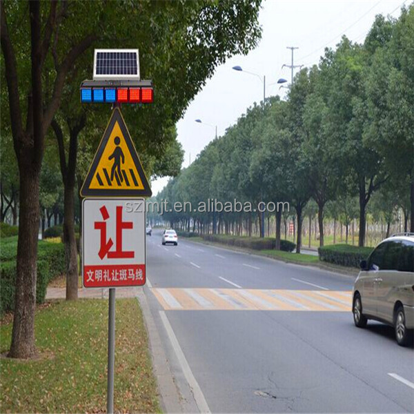3M EGP hexagon LED light flashing seamless aluminum traffic stop signs