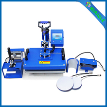 6 In 1 Sublimation Combo Digital T-shirt/Mug/Cap Heat Press Printing Machine 8 In 1