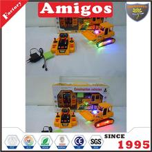funny toy 4 channel RC bulldozer with light/charger/battery included/auto play/music hot radio control engineering vehicle