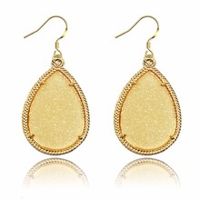 Wholesale Frame Classic Water Drop Design Fluorescent Dangle Earrings
