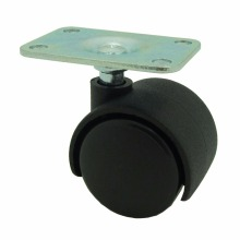 cheap lockable swivel black plate plastic caster wheels manufacturer