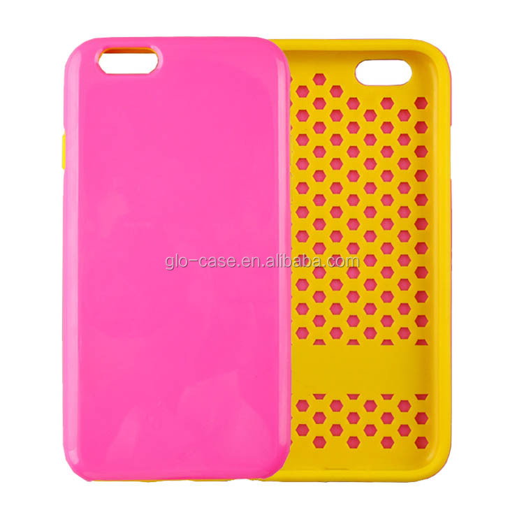 2 in 1 Combo Hybrid Dual Layer Phone Case for iPhone 6