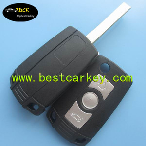 Topbest E39 E46 E92 key with 3 button flip modified remote key shell