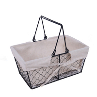 Modern Design Collapsible Metal Wire Shopping Basket