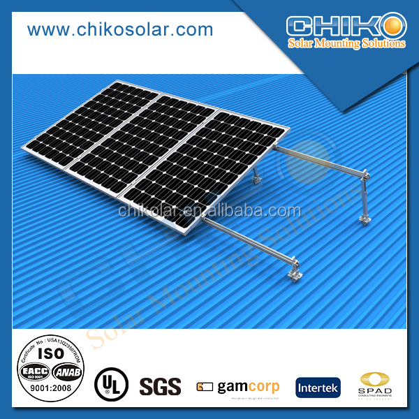 Rooftop Off Grid Solar Racking Mounts / Solar Module Racking Systems / PV Mounting
