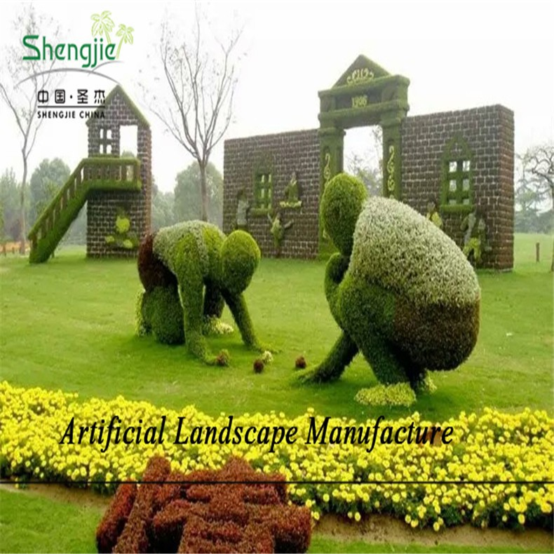 SJZJN 576 Factory Wholesale Cheap Artificial Topiary Animal ,Topiary Wire Frame Animal for Weddings Home Garden Decoration