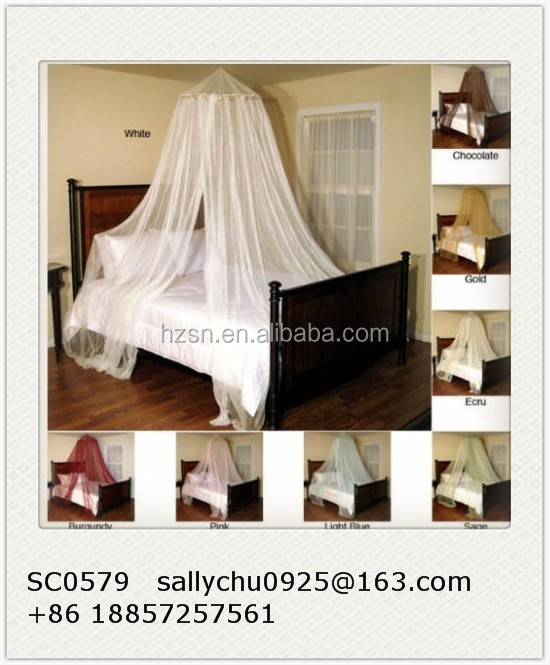 High Quality Indoor Outdoor Round Ceiling Mount Large Bedroom Mosquito Net Bed Canopy
