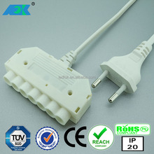 Elegent european design high voltage connector 230V 2.5A TUV connecting system fluorescent light tube connector