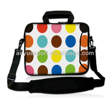 "7""-17""Colorful neoprene laptop sleeve/bag with shoulder strap and handle(factory)"
