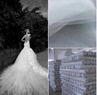 100% polyester tulle mesh fabric