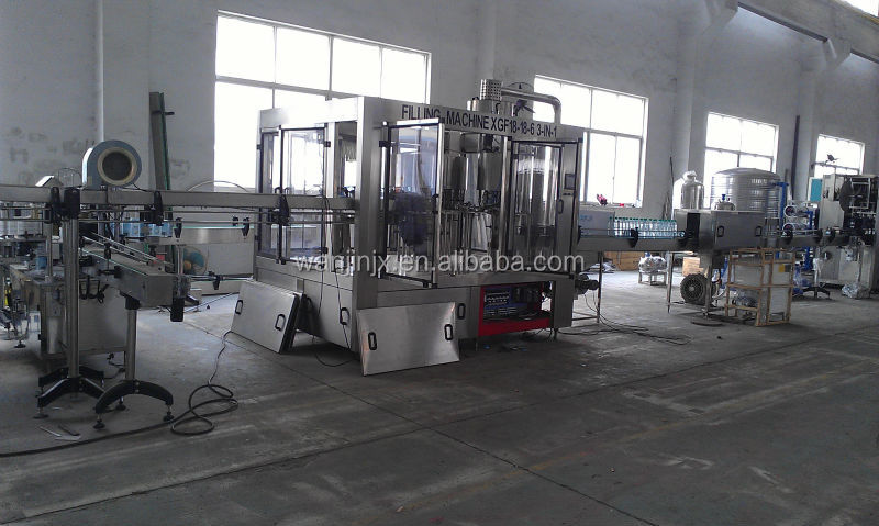 automatic mineral drinking pure water filling packing making machine with good price