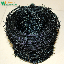 China manufacture length per roll farm pvc coated barbed wire fence sale