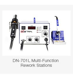 Daina New Design 2 in 1 Rework Station SMD Soldering Iron Emperature Adjustable Hot Air Gun BGA Welding Machine