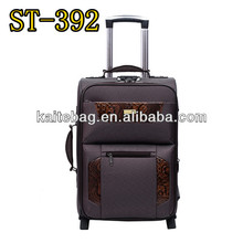 vintage style EVA match leather design push button with top and side handle set luggage