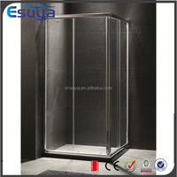 China supplier new design shower enclosures 8mm tempered glass adjustable profile aluminium frame shower cubicle