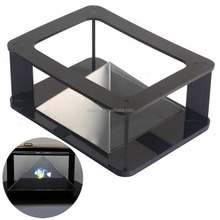 "3d Holographic Projection Pyramid Projector Support 3.5""-5.5"" Smartphone for Iphone 5 6 6plu"