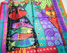 colorful design fahsion silk kerchief and headband