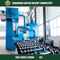 Steel pipe intestine shot blast cleaning machine