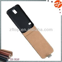 new arrival strong magnet flip leather case for Samsung galaxy s5 i9600 flip case