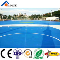 outdoor sports stadium playground durable basket ball court with Silicon PU material