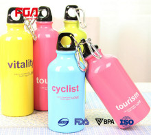 BPA free aluminium water bottle with loop cap