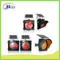 300mm PC material solar traffic yellow flashing warning light High visibility traffic solar warning lights