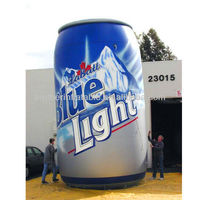 Customized inflatable beer can advertising model