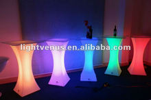 Plastic Glowing cool led bar counter Multi Color Change party led table desk