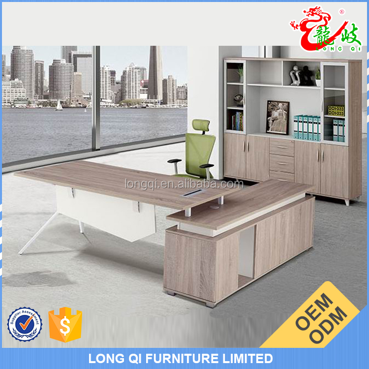 Customize high end office furniture metal table leg modern l-type office tables for manager