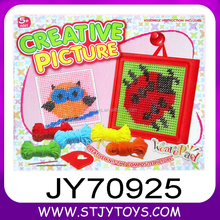 Creative Children DIY knitting wool Picture Embroidery Kits toy