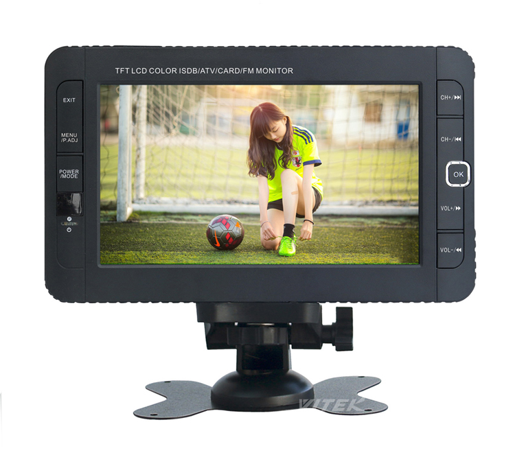 7 Inch 10 Inch Portable Tv Dvb-T2 Lcd , Oem Small Size Car TV, Cheapest Mini Cep TV