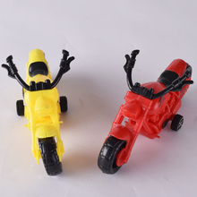 Chenghai Factory out-let cheap plastic color mix toy mini motorcycle