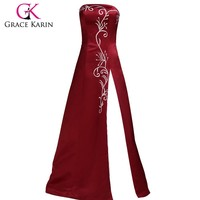 sleeveless Red turkish evening dresses arabic evening dresses made in china CL3132