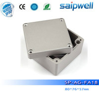2014 Best sales small tool boxes aluminum ip67 protection 80*76*57mm